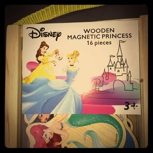 Disney Wooden Magnetic Princess, 16 pieces.